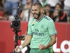 Karim Benzema scored the only goal as Real Madrid beat Sevilla 1-0. AFP
