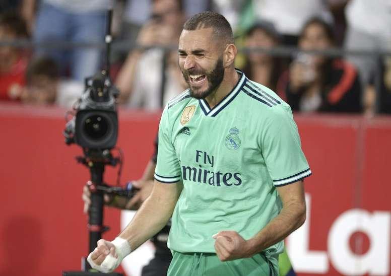 Zidane pudo contar con su terna de delanteros en el parón. AFP