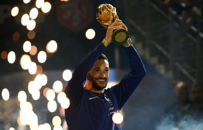 Lloris captained 'Les Bleus' to their second World Cup triumph in Russia. AFP