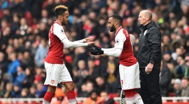 Aubameyang has been in excellent form since his arrival at the Emirates. AFP