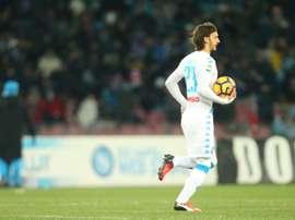Napolis forward from Italy Manolo Gabbiadini