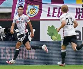 Burnley y Sheffield United se torpedean en su camino a Europa. AFP