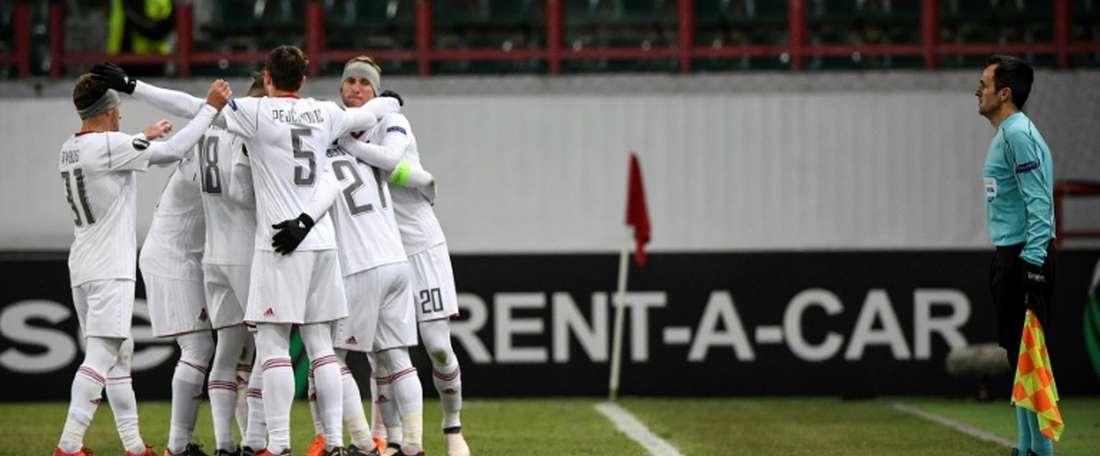 Lokomotiv were defeat in their home 'away' game. AFP