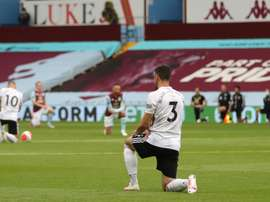 Villa and Sheffield United played out a controversial goalless draw. AFP