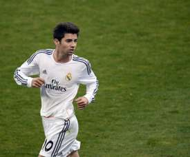 Real Madrids French midfielder Enzo Zidane, the 18-year-old son of French legend Zinedine Zidane, is pictured during the UEFA Youth League quarter-final football match between Paris Saint-Germain and Real Madrid at the Charlety Stadium last year