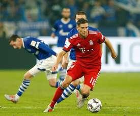 Goretzka featuring against his former club Schalke. AFP