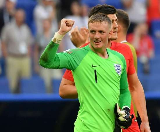 Pickford impressed in this summer's World Cup. AFP