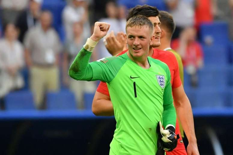 Pickford enjoyed an impressive World Cup campaign with England. AFP