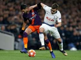 O City oferece 44 milhões para tirar Winks do Tottenham. AFP