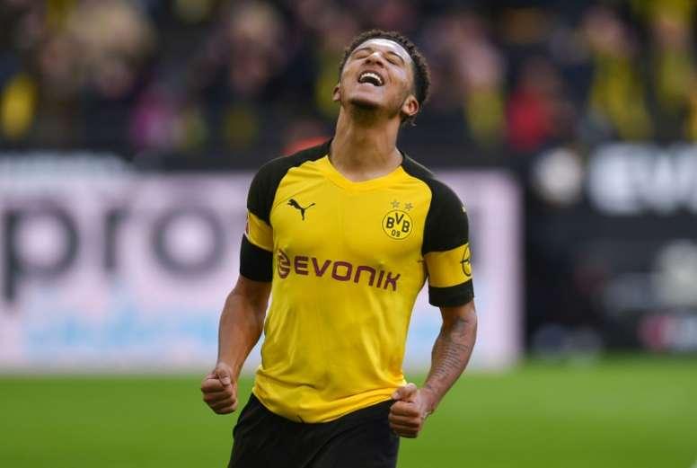 Sancho espera un milagro en Dortmund. AFP