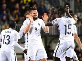 La Selección Francesa venció sin brillantez a Luxemburgo. AFP