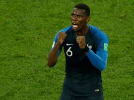 Pogba is being linked with Barca. AFP