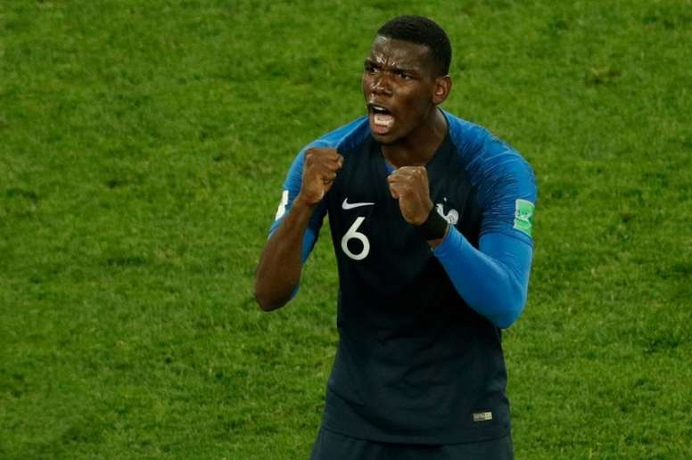 Pogba received criticism from his club manager last season. AFP