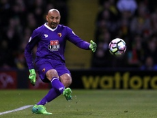 Watford goalkeeper Heurelho Gomes signed a two-year contract extension. AFP