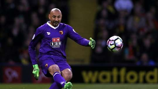 Heurelho Gomes wants to see Watford into Europe before retirement. AFP