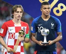 Kaká fait le pari de Modric et Mbappé. AFP