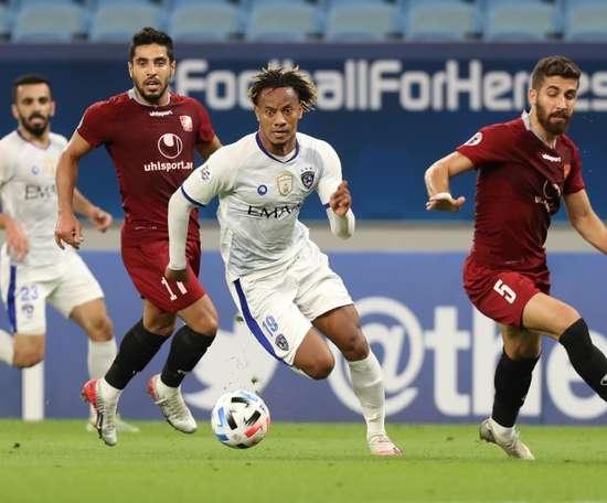 Al Hilal avec onze joueurs dont trois gardiens contre Al-Ahli. AFP