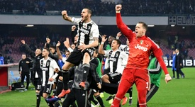 Juventus all but sealed their eighth consecutive Serie A title. AFP