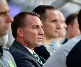 Brendan Rodgers' side will face AEK Athens on Tuesday night. AFP