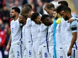 Wreaths were placed on the pitch and a minute of silence took place at Wembley.