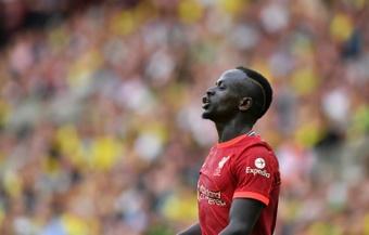 El Liverpool quiere renovar a Mané hasta que tenga 34 años. AFP