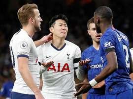 Son Heung-Min é um dos titulares do Tottenham para visitar o Chelsea. AFP