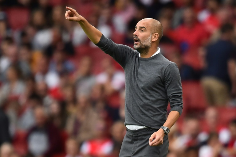 Guardiola's side were 2-0 victors at the Emirates on Sunday. AFP