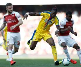 Zaha netted for the away side. AFP