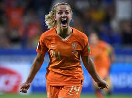 Groenen settled the contest in Holland's favour. AFP