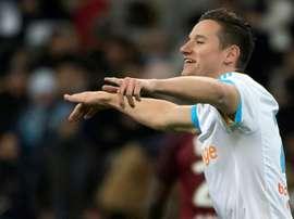 Thauvin marcó un 'hat trick' ante el Metz. AFP