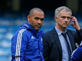 Former Chelsea manager Jose Mourinho (R) with Jose Morais, reportedly due to sign for Turkish club Antalyaspor as new manager