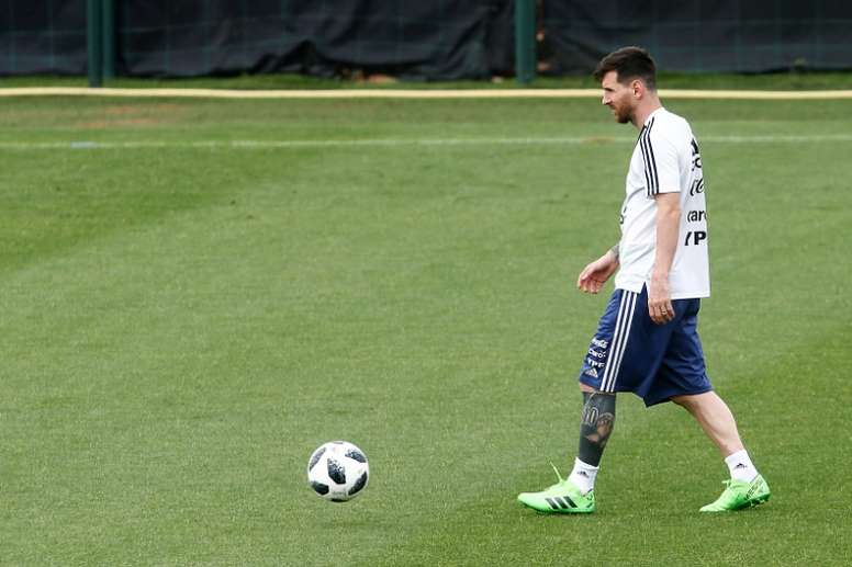 Messi became the centre of a controversy surrounding a friendly game in Israel. AFP