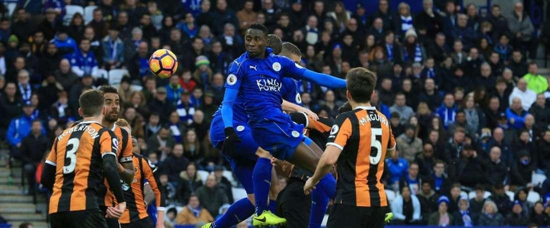 Leicester s'est offert une deuxième victoire consécutive en Premier League. AFP