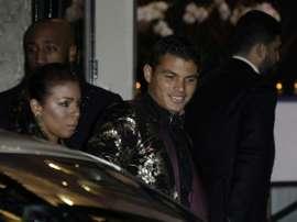 Quand Ben Arfa offrait un dîner romantique à Thiago Silva. AFP
