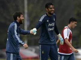 Romero n'est pas convoqué. AFP
