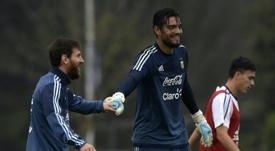 Romero se quedó fuera de la lista. AFP