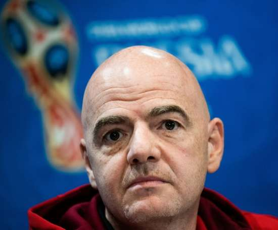 Infantino is determined to push through World Cup reshuffle. AFP