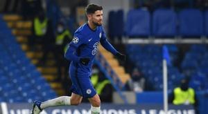Jorginho scored a penalty as Chelsea drew 1-1 with Krasnodar. AFP