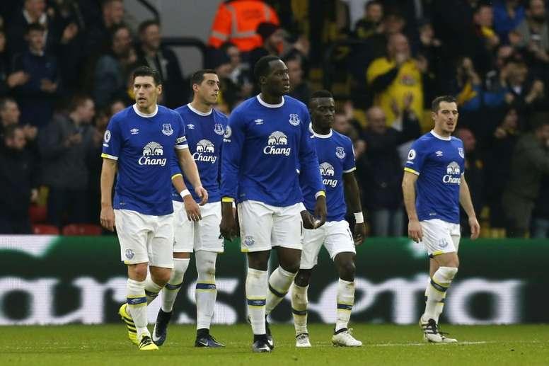 El Everton podría dejar salir a uno de sus jugadores menos habituales. AFP