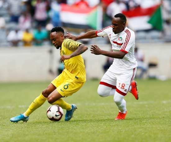 South Africa bounced back from defeat to Ghana to beat Sudan. AFP