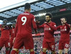 Liverpool go back to the top of the Premier League after their win over Bournemouth. AFP