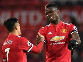 Pogba and Sanchez trained on Monday.AFP