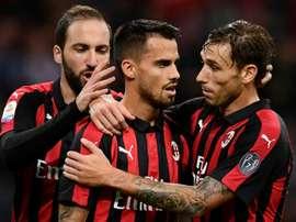 AC Milan midfielder Suso. AFP