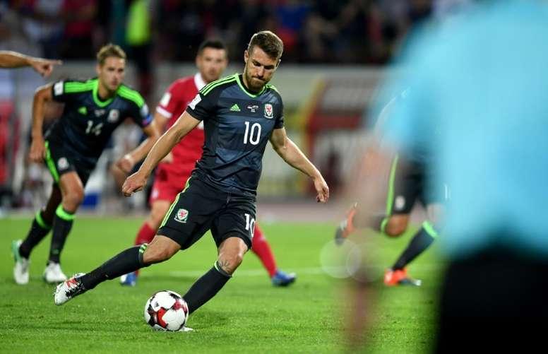 Aaron Ramsey forfait contre la Slovaquie. AFP