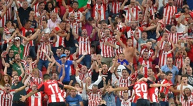 Athletic Bilbao got off their campaign to a flying start thanks to a famous win. AFP
