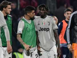 Reactions of players after Moise Kean was subject to racial abuse. AFP