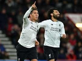 El Liverpool echará de menos su olfato goleador. AFP/Archivo