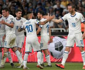 Italy were comfortable winners. AFP