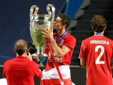 Lewandowski was named UEFA men's player of the year. AFP