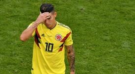 El futuro de James se aleja del Bernabéu. AFP